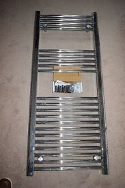 Chrome towel rail straight 500 x 1200