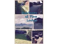 Lodge with panoramic views over Cardigan Bay on Havens Hafan y Mor