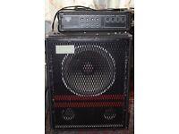 "Trace Elliot 15"" Speaker Bass Bin and 100W PA head, proper speaker cable Whitstable."