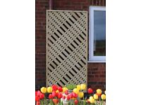 Wooden trellis, Lattice, Privacy trellis 6ft x 3ft (180 x 90 cm)
