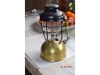 Old Brass Tilly Lamp.