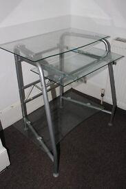 Glass computer desktop