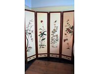 Vintage Screen - Chinese Style Design - Bird and Flower Inlay