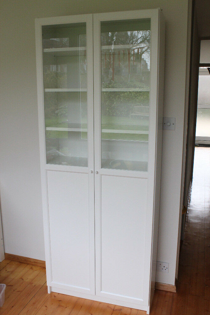 billy bookcase with oxberg panel glass white door ikea in putney london gumtree. Black Bedroom Furniture Sets. Home Design Ideas