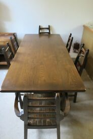 Oak Dining Set by Webber of Croydon