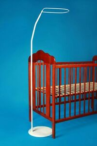 CROWN-FREE-STANDING-FLOOR-CANOPY-DRAPE-ROD-FOR-COT-COTBED