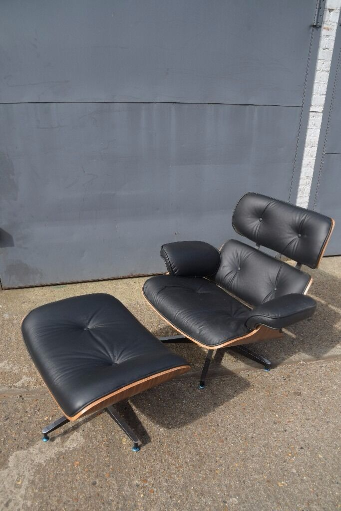 Stunning Eames Lounge Leather Chair and Foot Stool in Clapham
