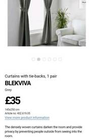 Ikea curtains - silver - current stock