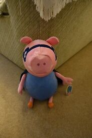 BRAND NEW WITH TAGS Large peppa pig super hero george teddy