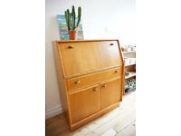 Superb Retro Solid Teak Writing Bureau / Desk 1970's FREE DELIVERY CENTRAL EDINBURGH