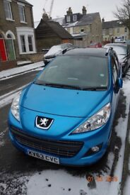 Peugeot 207 SW 1.6 HDi Allure 5dr. Excellent condition, low miles