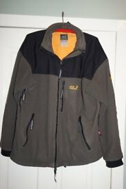 "Men's XL (44"") Jack Wolfskin Blizzard Jacket in Green / Black / Orange"