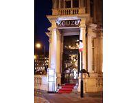 Bartender for Kouzu Japanese Restaurant - 2 min from Victoria Station