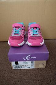 Clarks Cross Dart Children Shoes
