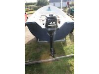 CRESENT 14ft BOAT + 4HP 2 STROKE MERCURY ENGINE