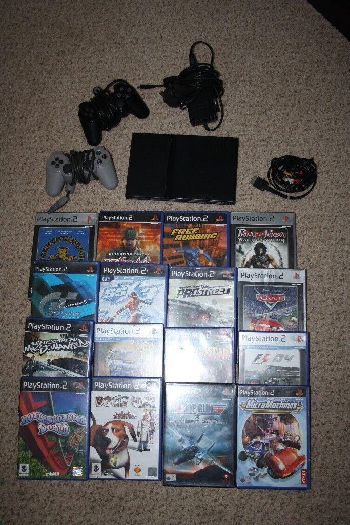 Playstation 2 slim black console PS2