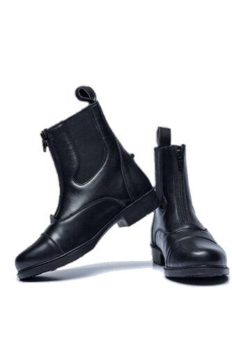 Ladies Full Grain Leather Zip Paddock Boots