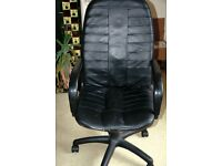 Black Leather Office Chair