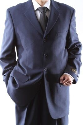 MEN'S 4 BUTTON DRESS SUIT MENS NAVY NEW SUITS SIZE 36R