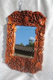 Rustic/unusual/unique solid wood mirror