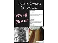 Hair extensions by Joanna
