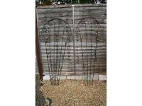 Steel Fan Trellis Panels x 6