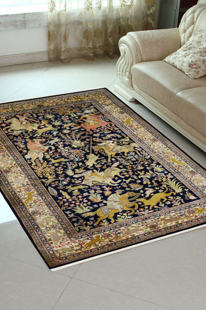 Kashmir Silk Carpets And Rugs From India