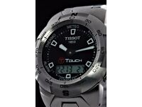 Men's Tissot T-touch-Serviced.Near New Condition.Boxed.