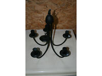 5 leg black lamp holder ceiling light