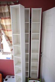 3 White IKEA Gnedby CD/DVD Shelving Units