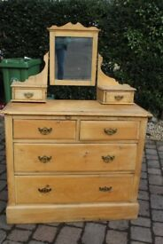 Victorian Pine Dressing Table for restoration