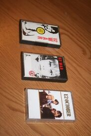 3 U2 music cassettes