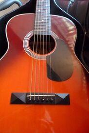 Vintage Parlour guitar with Hard Case