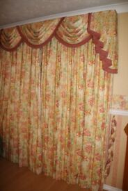 TWO Pairs of Harlequin collection designer curtains and dressing