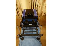 Ultimate Tackle Seat Box complete with foot plate