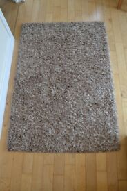 Brown and White Rug, RRP £45
