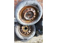 REDUCED TO £10 FOR ALL FOUR 13 INCH CAR STEEL WHEELS