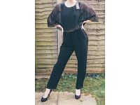 BRAND NEW Phase Eight Black Jumpsuit size 14