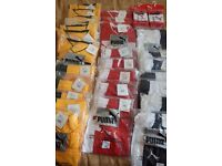 Bundle 32x lot of NEW Puma power cat Football sports shorts/Tops Men's