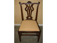 18th century Mahogany Chippendale style Hall Chair