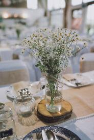 Wedding Glass Bowl Centre Piece x 21