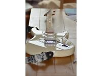 Make me a OFFER Stratocaster made with superior glue ! Olympic/artic white 08-09 Mexican model.