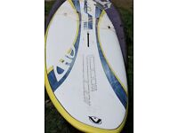 117L Free Ride Board (comes with board bag, foot straps, deck plate and a fin)