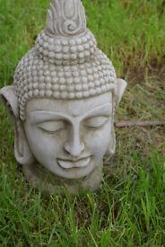 Budhha head concrete stone garden ornament