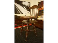 Antique swivel adjustable piano/music chair