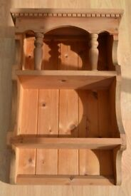 Solid Pine Shelf - Beautiful and Ornate -