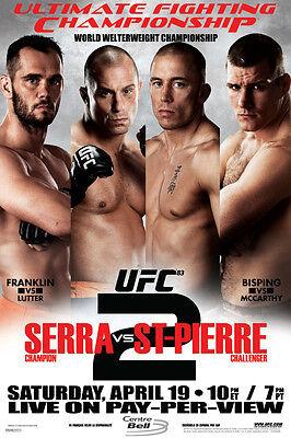 UFC 83 Matt Serra vs Georges St Pierre 2 Sports Poster (George St Pierre Vs Matt Serra 2)