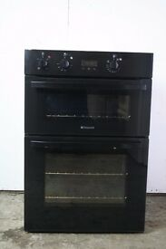 Hotpoint Black Double Oven, Excellent Condition, Comes with 1 Year warranty.