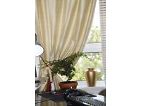 Lovely beige cotton curtains
