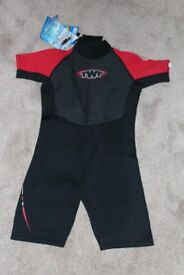 TWF Kids Shortie Wetsuit Kids Size 12 (BRAND NEW LABELS ON)